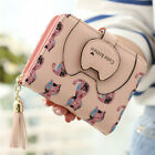 Women's Mini Leather Wallet Cute ID/Card Holder Coin Pocket Purse with ID Window image