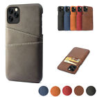 For Iphone 12 11 Pro Max Xs Xr X 7 8 Leather Card Wallet Slot Hard Pc Case Cover