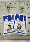 X-file Series ID Badge. Your choice Special Agent Scully Mulder Cosplay Costumes