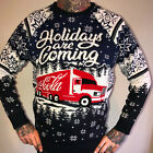 Adult Christmas Coca Cola 'Holidays Are Coming' Christmas Jumper (S-XXXL) New £28.75  on eBay