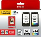 Kyпить Canon PG-243 and/or CL-244 Original Black and Color Genuine Ink Cartridges на еВаy.соm
