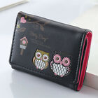 Women Girls Leather Wallet Trifold Coin Card Holder Mini Small Purse Coin Purse image