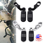"1-1/4"" Engine Guard Highway Foot Pegs For Harley Touring Road King Street Glide image"