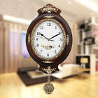 Pendulum Wall Clock Silent Vintage Stylish Wooden Design Clock Battery Operated