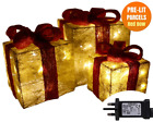 Christmas Decorations Sale Pre Lit Light Up Glitter Parcels Gift Box Illuminated
