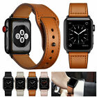Genuine Leather Band Strap For Apple Watch Series 5 4 3 2 1 iWatch 38/42/40/44mm image