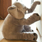 Big Large Grey Soft Elephant Plush Toy Doll Pillow Cushion Stuffed Animal Gifts