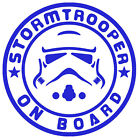 Star Wars Stormtrooper On Board Vinyl Decal Sticker Car Van Laptop Tablet Wall $10.64 AUD on eBay