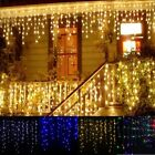 Garland Christmas LED Curtain Icicle String Fairy Light 5M 96Leds Droop