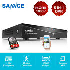 SANNCE HD 1080P 5in1 4CH CCTV DVR Video for Home Security System P2P Remote HDD