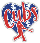"Chicago Cubs Heart MLB Baseball Sport Car Bumper Sticker Decal ''SIZES"" on Ebay"