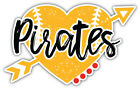 "Pittsburgh Pirates Heart MLB Baseball Sport Car Bumper Sticker Decal ''SIZES"" on Ebay"