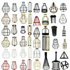 All Wire Cage Industrial light Metal Frame Vintage shade Lamp Guard Bar Cafes UK for sale  Shipping to Ireland