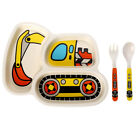 Kids Children Cutlery Plate Dinner Eating Set Spoon Fork Baby Dishes Utensils N