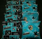 SAN JOSE SHARKS CORNHOLE BEAN BAGS 8 ACA REGULATION NHL FAN GIFTS !! $44.99 USD on eBay