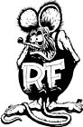 1 Rat Fink Hot Rod Motorcycle Truck Helmet VINYL DECAL STICKER Die Cut Ed Roth