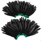 12 Pairs Nylon PU Safety Work Gloves Lot For Builders Mechanic Palm Coating New
