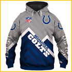 FREESHIP Indianapolis Colts Football Team Fan's 3D Hoodie Pullover Unisex S-5XL $47.99 USD on eBay