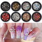 3D Nail Art Rhinestones Flat Back AB Color Gems Mixed Crystal Nail Decoration