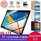 "10.1"" 4G-LTE Tablet Android 8.0 Bluetooth PC 8 128GB Dual SIM GPS Camera"