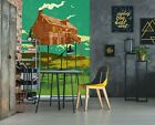 3D River House B12 Wallpaper Wall Mural Self-adhesive Showdeer Zoe