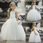 US Baby Girls Toddler Party Dress Pageant Wedding Birthday Princess Christening