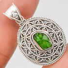 Bali Collection - Chrome Diopside Rough 925 Silver Pendant Jewelry SDP24755