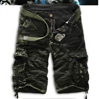 Mens Work Cargo Shorts Short Military Army Combat Tactical Half Pants Trousers