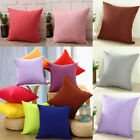 Solid Plain Cushion Cover Pillow Case Comfy Waist Throw Home Decor Candy Color image