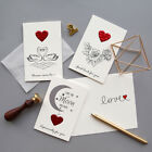 embossed red heart greeting card valentine wedding anniversary party invitations