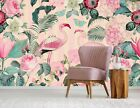 3D Flamingo Butterfly B10 Wallpaper Wall Mural Self-adhesive Andrea haase Zoe