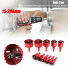 15-200mm Hole Saw Blade Hole Drilling Cutter Woodworking Tool Hole Saw Blade US