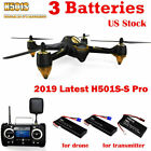 Hubsan H501SS Pro X4 Drone 5.8G FPV Brushless 1080P RC Quadcopter+GPS+3 Battery