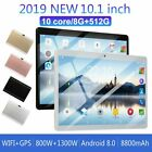 10.1'' inch Android 9.0 10 Deca Core Dual SIM Tablet PC WIFI 8+256G Tablets Pad