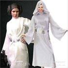 Adult Princess Leia Star Wars Fancy Dress CostumeLadies Womens Cosplay HoodedDE