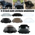 "4.5""6""7""8""9""10"" Wave Windshield Lexan Windscreen For Touring Ultra Classic USA image"