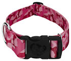 Country Brook Petz® 1 1/2 Inch Deluxe Pink Bone Camo Dog Collar