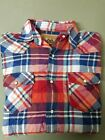 New Mens Red Camel Snap Front 100% Cotton shirt.