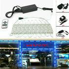 US 10FT 160FT 5054 SMD 6 led Module Lights Fairy Strip Blue Lamp +Remote +Power