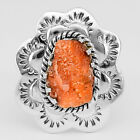 Rainbow Sunstone Rough - Namibia 925 Sterling Silver Ring Jewelry s.7 SDR26323