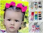 Kyпить Hair bows 3 inch cotton baby bows on a clip baby toddler girl 53 colors pigtail  на еВаy.соm