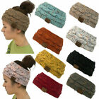 Fashion Women Winter Knitted Ear Warmer Headband Crochet Wool Hairband Hat US