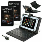 """US Printed Leather Case Cover Micro USB Keyboard For 7"""" 8"""" 9.6"""" 10.1"""" Tablet PC"""