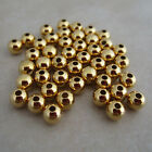 gold plated beads 5mm round smooth