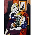 Woman with Book Pablo Picasso HD Canvas Art Print Painting Decor Multi Sizes