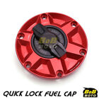 RED FCR 1/4 Quick Lock Gas Fuel Cap For Triumph Rocket III 10 11 12 13 14 $55.8 USD on eBay