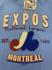 MONTREAL EXPOS MLB MAJESTIC COOPERSTOWN BARNEY TEE AUTHENTIC MEN'S SHIRT