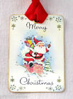 Hang Tags RETRO MERRY CHRISTMAS SANTA CHIMNEY TAGS or MAGNET 575 Gift Tags