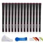 Standard/Midisize Rubber 13PCS Golf Grips with Tapes Non-slip Red Golf Regrip
