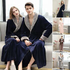 Women Men Winter Flannel Bath Robe Terry Thick Soft Dressing Gown Sleepwear 2019